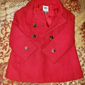 Girls red peacoat